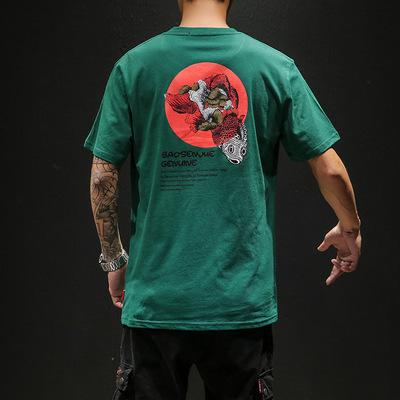 圆领原创黑墙短袖T恤印花休闲男士夏季新款 款号T239 P30【控48】