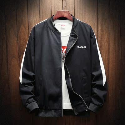 秋季时尚男装大码棒球领运动外套 款号J325 P78