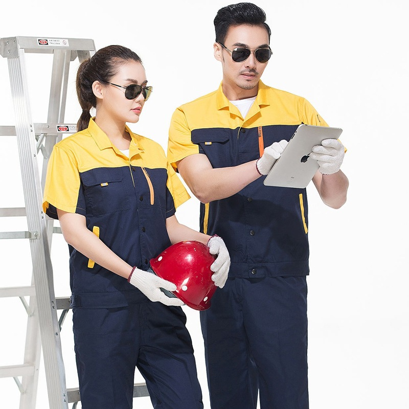 Season clothing uniform suit summer electrician mens auto repair work clothes hotel maintenance engineering department property clothing Labor Day