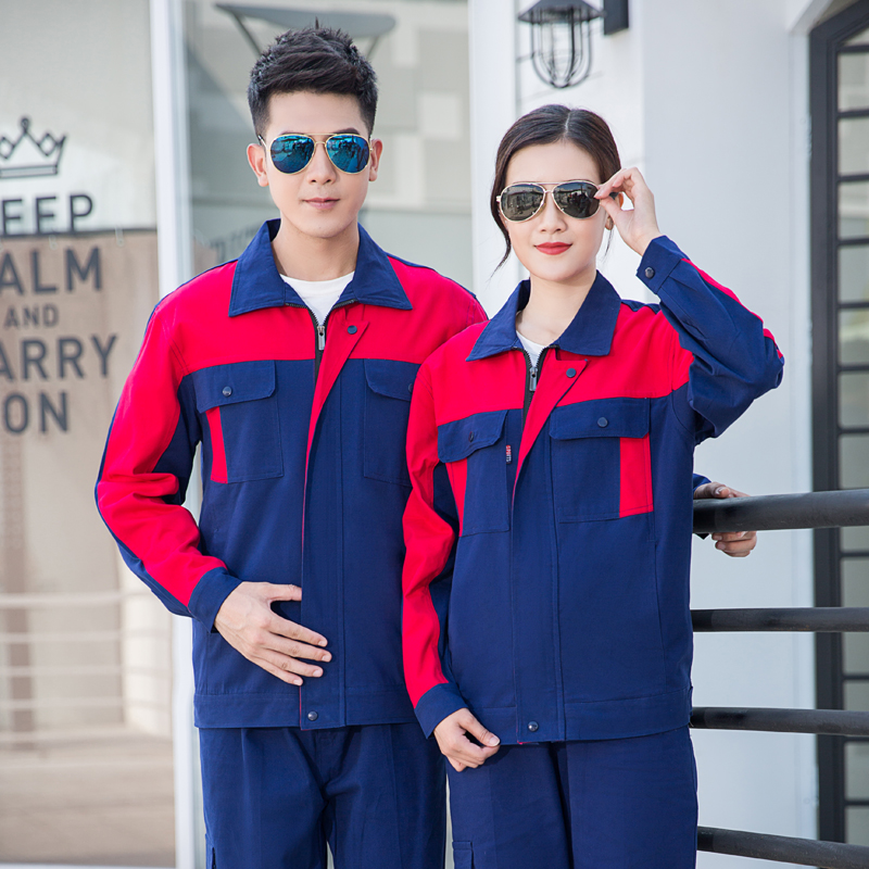 Custom made work uniform cotton work suit property electrician maintenance engineering service long sleeve spring and autumn embroidery logo