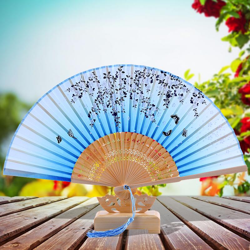 Шелк веер китайский ветер характеристика подарок отвезти старый иностранных из страна путешествие годовщина статья шёлковая ткань шелк Сычуань