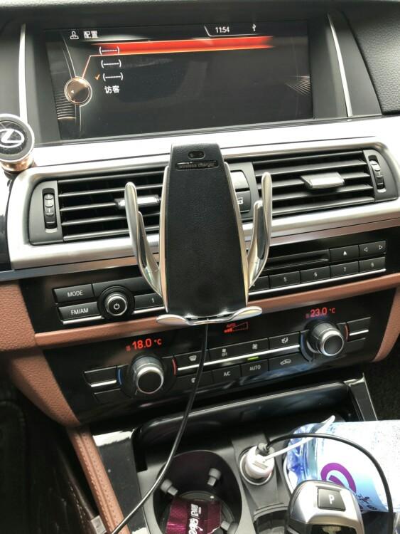 抖音同款:汽车内饰车载无线充电手机架-1