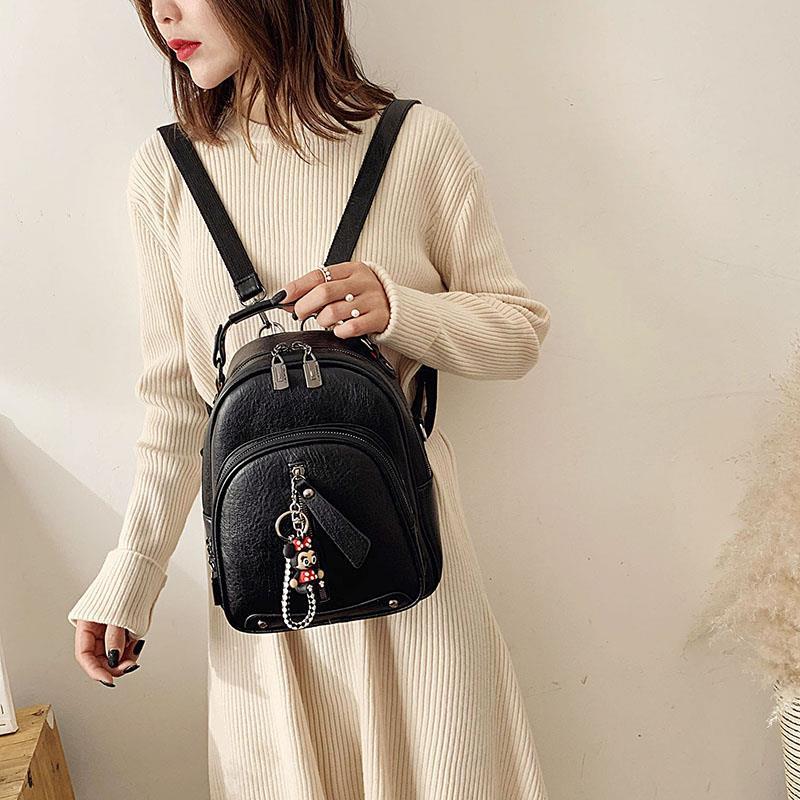 Backpack womens small bag womens bag 2020 new fashion multi-purpose backpack Korean versatile fashion backpack small shoulder bag