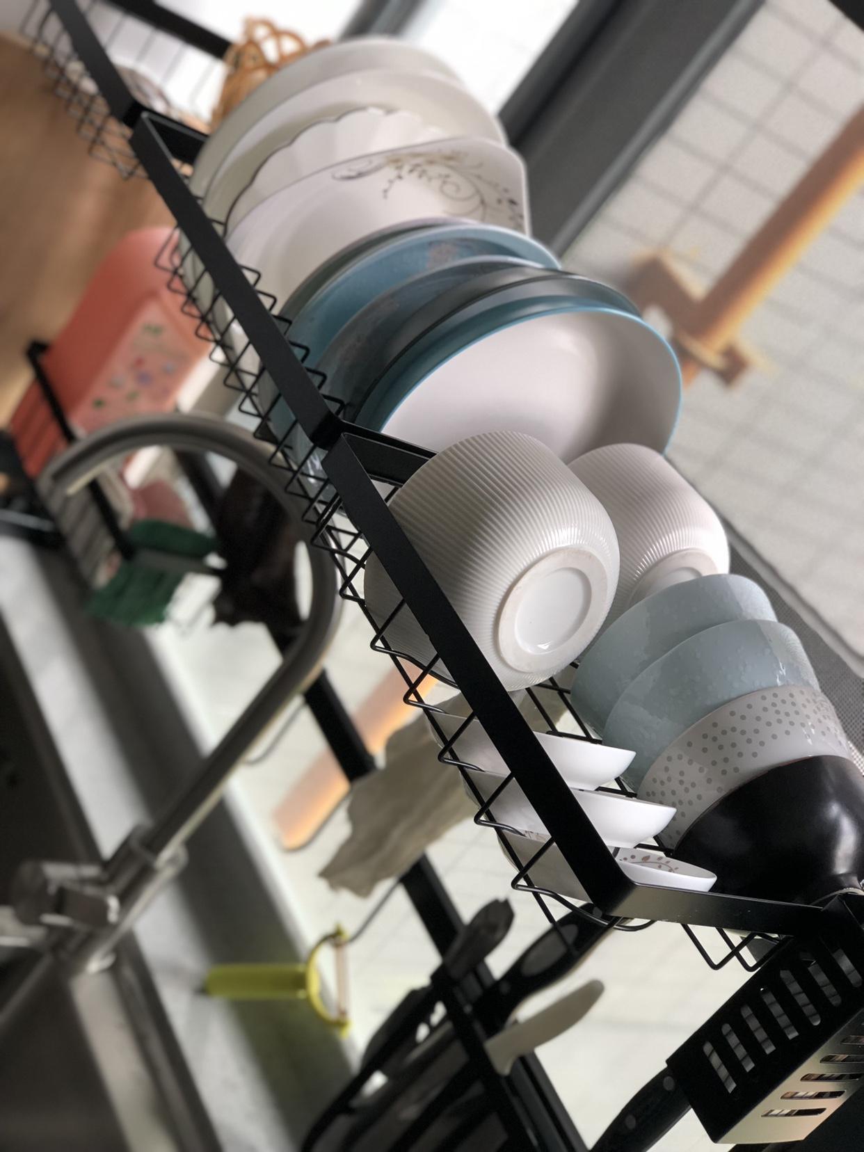 抖音同款:厨房碟碗水槽置物沥水架-2