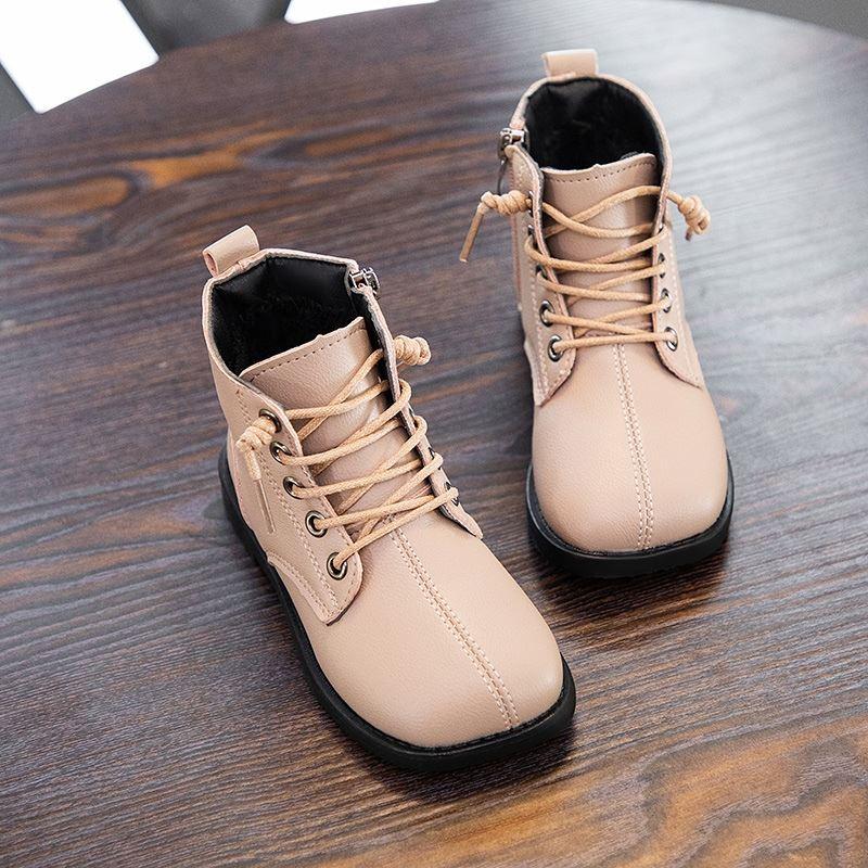 女童2020年秋冬季童鞋靴子防滑棉靴