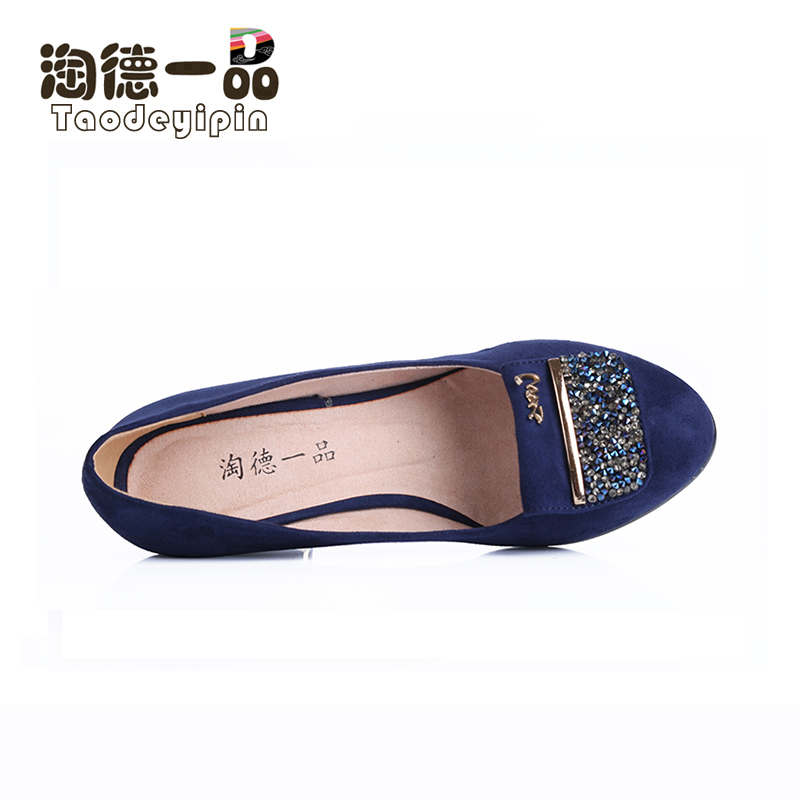New Taode Yipin old Beijing cloth shoes exquisite and shining gorgeous hot diamond comfortable high heel womens single shoes 6226