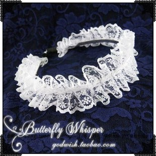 Angel full of Gothic Lolita COS maid white laminate Lace hair accessories hair bands