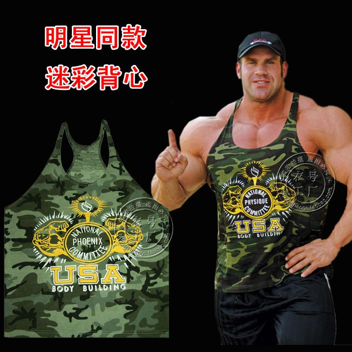Мышцы Бог ультрадисперсных с профессиональный мужской фитнес бодибилдинг жилет жилет обучение мужчин жилет хлопок широкий