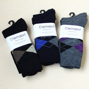 Germany single Clemdorf bamboo fiber combed cotton men s socks in tube socks business socks three pairs group