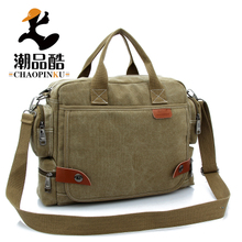 Spot and sacred inclined han edition young and middle-aged male bag, canvas bag bag bag multi-function man 0000 new documentation