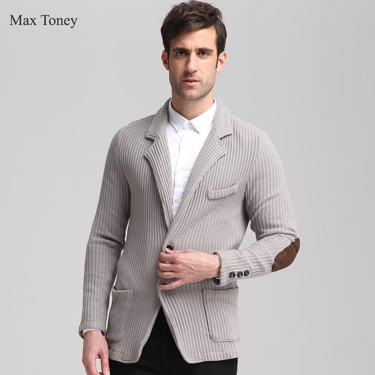 Макс Toney19shop Мужские костюмы вязать свитер, случайные костюмы мужчин и 882
