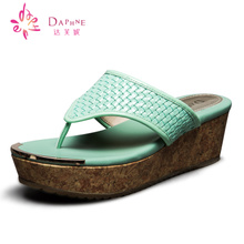 Daphne/new Daphne 15 years in the summer of the cane makes up wedges slippers High personality with flip-flops a clearance sale