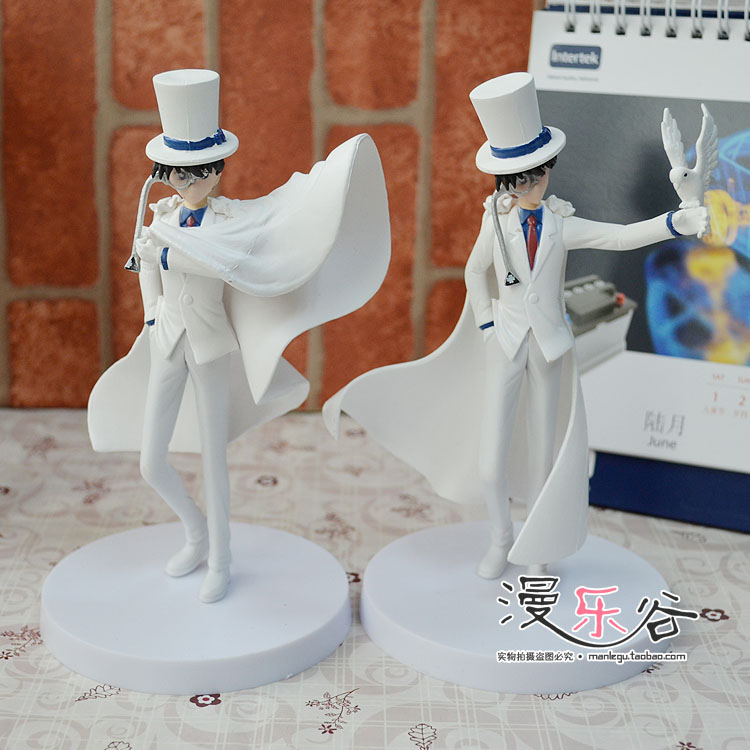 Detective Conan, the strange thief, Kidd, hand made model ornament, black feather, quick fight, white magician, Gong Fuji, a new package of post