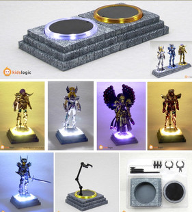 Saint Seiya Myth COSMOS BASE Cloth Myth LED orange light emitting stent platform