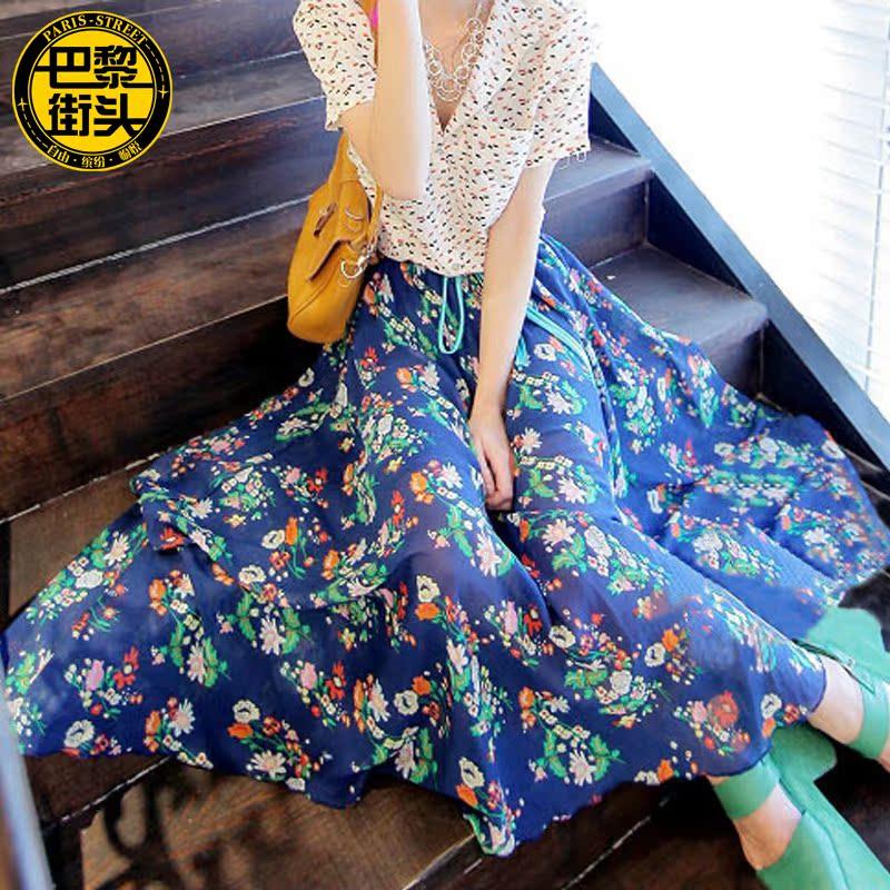 Летний пляж платья шифон Богемиан ресорт осень бюст Юбка длинная юбка юбка юбка базы юбка пляж юбка