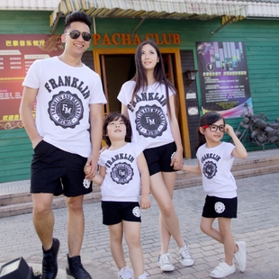 Family fitted summer mother and mother dress women summer full home improvement section 2015 summer new three letters shorts