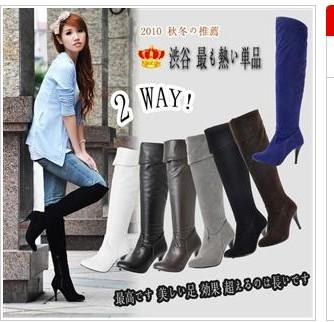 Женат белых женщин сапоги обувь сапоги, по колено сапоги Сапоги размер 40 41 42 43 44 45 46 47 ВЯЗ