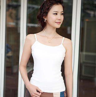 Lohja fashion Korean wild solid color cotton camisole small bottoming shirt Slim Korean summer women new