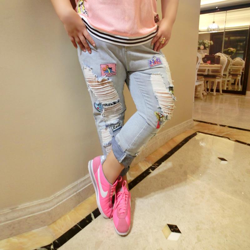 XL дамы летом жир рыбы удобрение в мм ноги Люмбальная пункция, модные джинсы брюки подходят 32-42