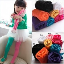Japan and South Korea double-color children pantyhose candy color color silk stockings girl velvet leggings AB dance tights socks