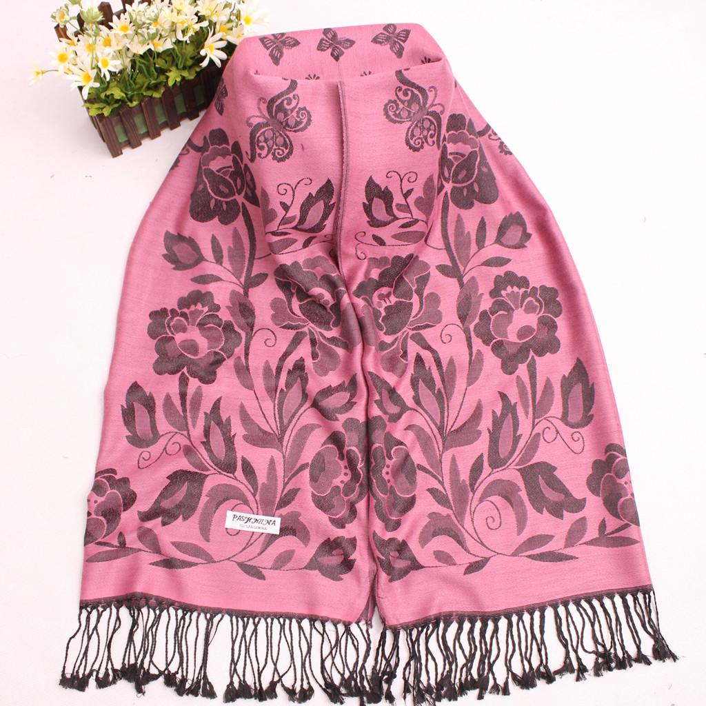 Осенью и зимой новый богемный национальной Ms Юньнань Lijiang жаккардовые Шаль шарф кистями шарф шаль