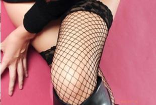 W0028 in mesh socks black long barreled fishnet stockings stockings Panty Stocking