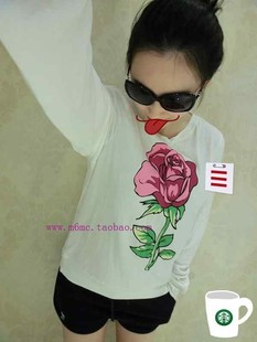 WILDFOX new spring and summer women s sweater soft loose section rose sweater wholesale spot
