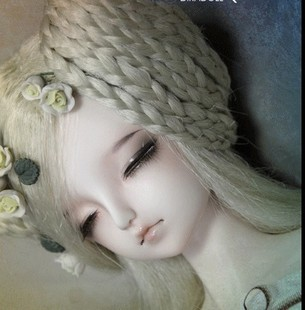 For gift DK 1 4 BJD doll sd doll baby girl sleep ear eye Ruina