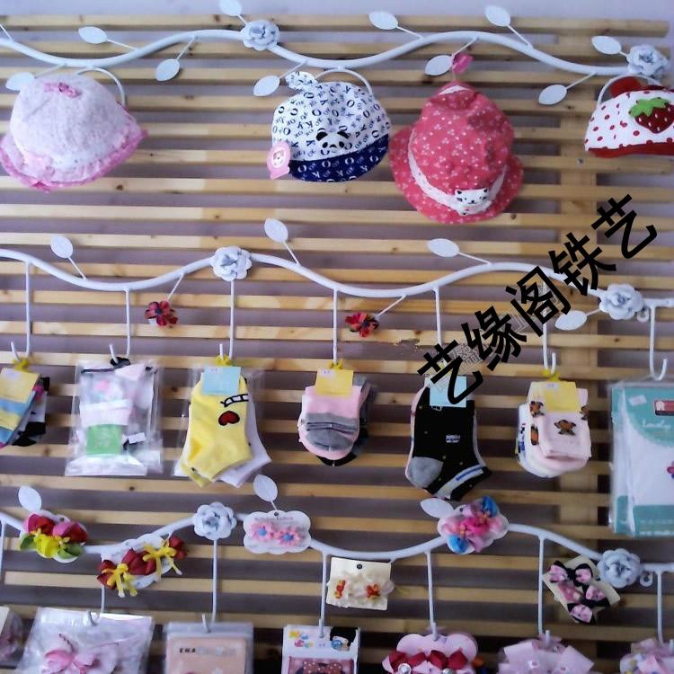 Tieyi sock display rack clothing store rack hat hook sock rack underwear wall rack silk stockings accessories rack