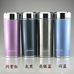Rich light blazing vacuum cup stainless steel mug cup sub 420ml FGL 3270 counter genuine glass