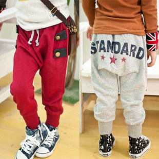 Broken code Specials 2015 autumn Korean version of the New England style Boys Girls Baby breeches 9B
