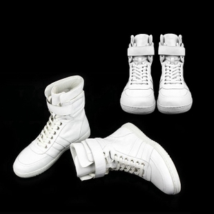2016 Korea purchasing British fashion leather casual men white high top hip hop shoes Boots