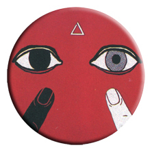 Japan eyes bloodshot eyeball MISHKA Harajuku Zipper triangle badge brooch badge accessories