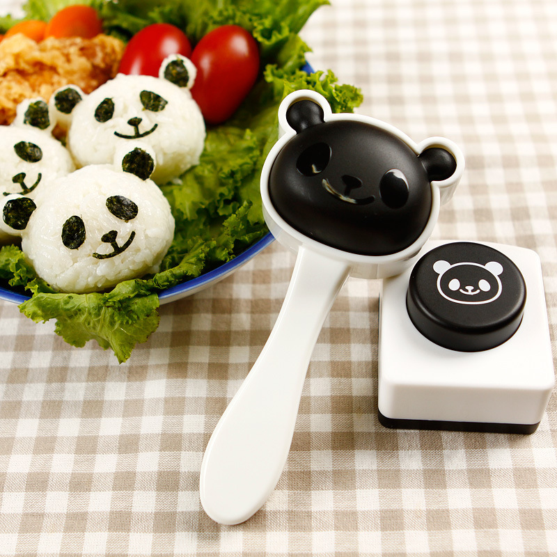 熊猫压饭日本diy卡通宝宝饭团模具套装儿童便当寿司工具模型米饭