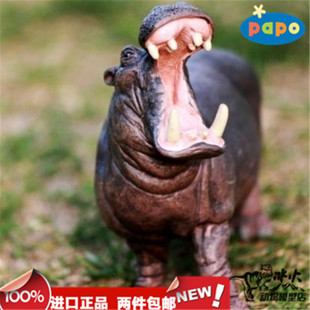 PAPO New Year gifts wildlife dinosaur model toys river horse new authentic spot