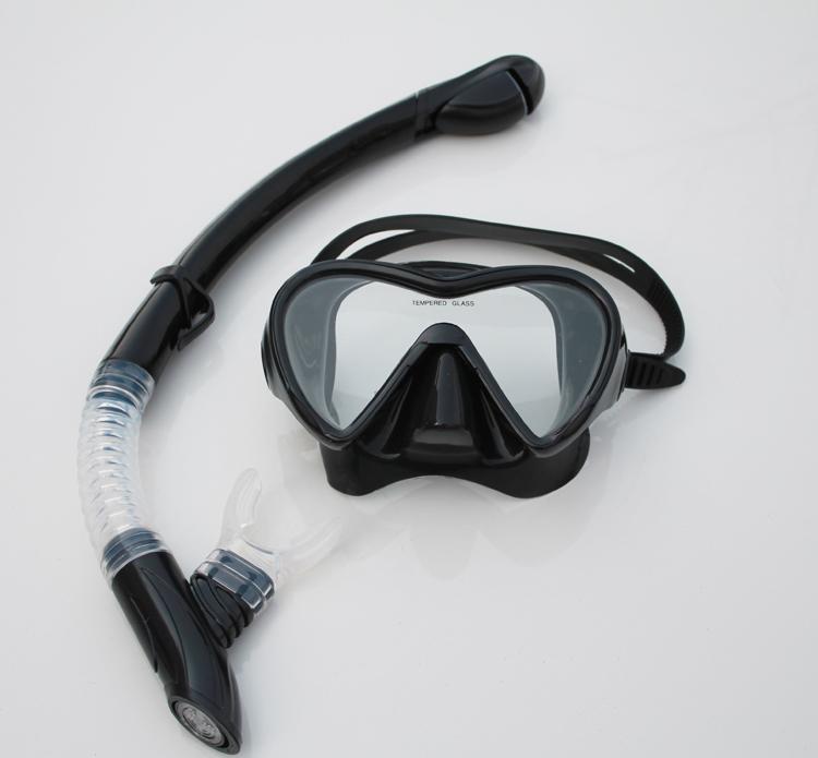 Дайвинг установите дыхательную трубку + погружной зеркало поплавок скрытая оборудование поплавок скрытая самбо сухой стиль дыхательную трубку