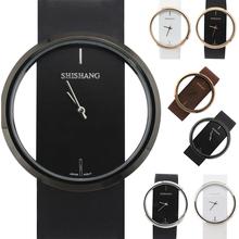 c0ae9c406fb2 Simples relojes transparentes en Hong Kong SS hoja de personalidad neutral  entre las mujeres y los