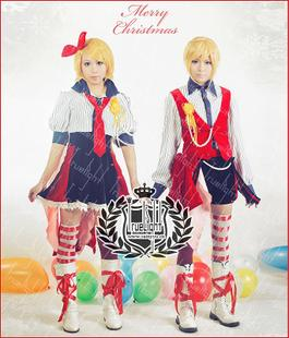 Gemini V home mirror sound bell even cosplay costume dress lotus amusement park colleagues siblings RIN LEN Christmas