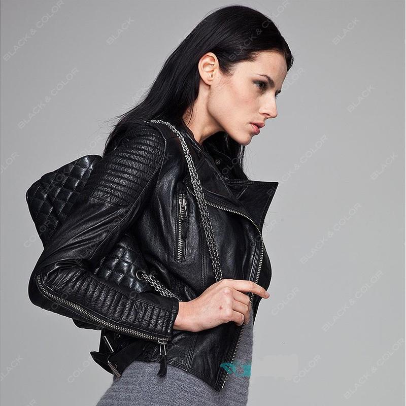Падение к 2015 году новых Европы и Zara кожа кожа тонкая кожа куртка размер женского локомотивов дубленка