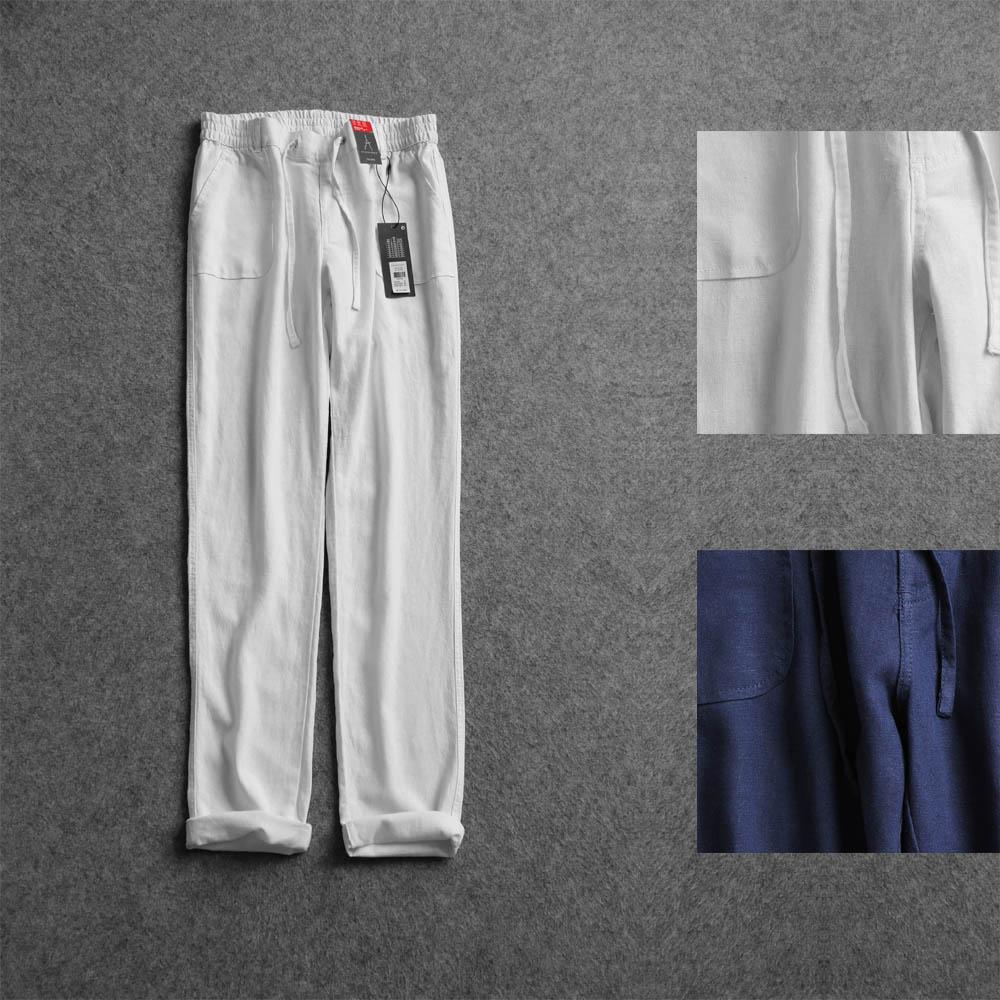CSB 0513 Великобритания досуга качество стирки качество широкий DrawString упругие талии постельное белье отдыха брюки