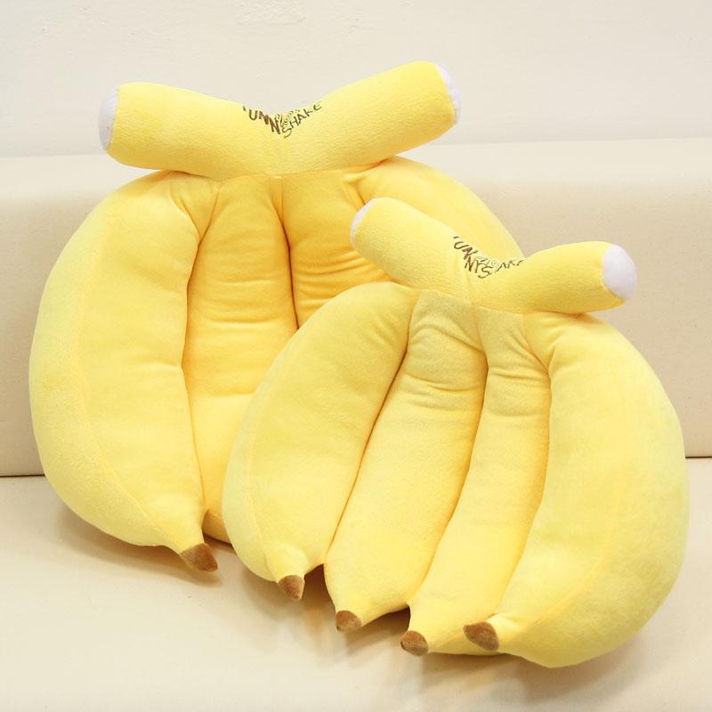 Негабаритных фрукты банан подушка диван поясничный подушка творческий плюш игрушка вздремнуть подушка мужской и женщины день рождения подарок