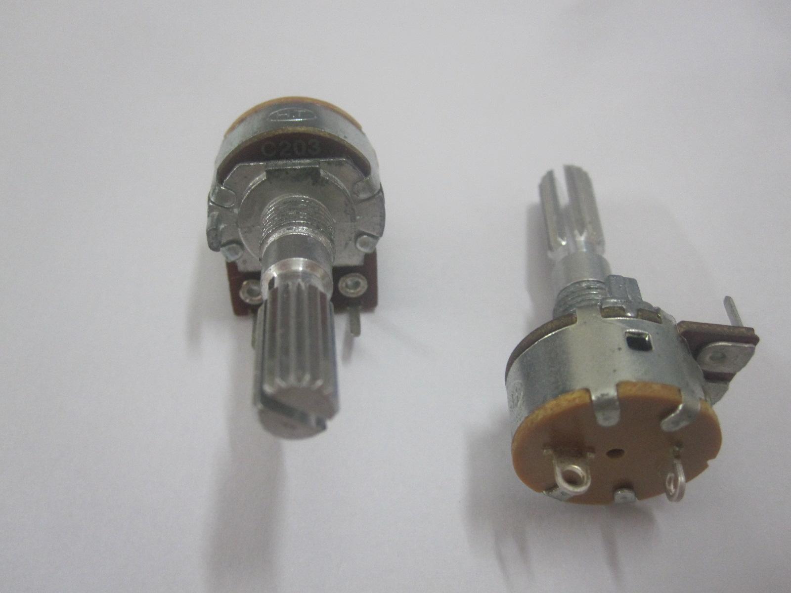 三脚C203单联开关电位器可变电阻C20K长柄功放音响音量调调节控制