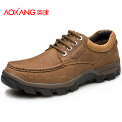 Aokang shoes men's shoes men's outdoor sports climbing tour shoe nubuck leather cushioning wear low cut shoes