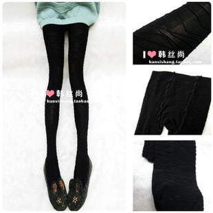 Boa home ultra thin three dimensional personality stripe pantyhose black velvet backing tights socks