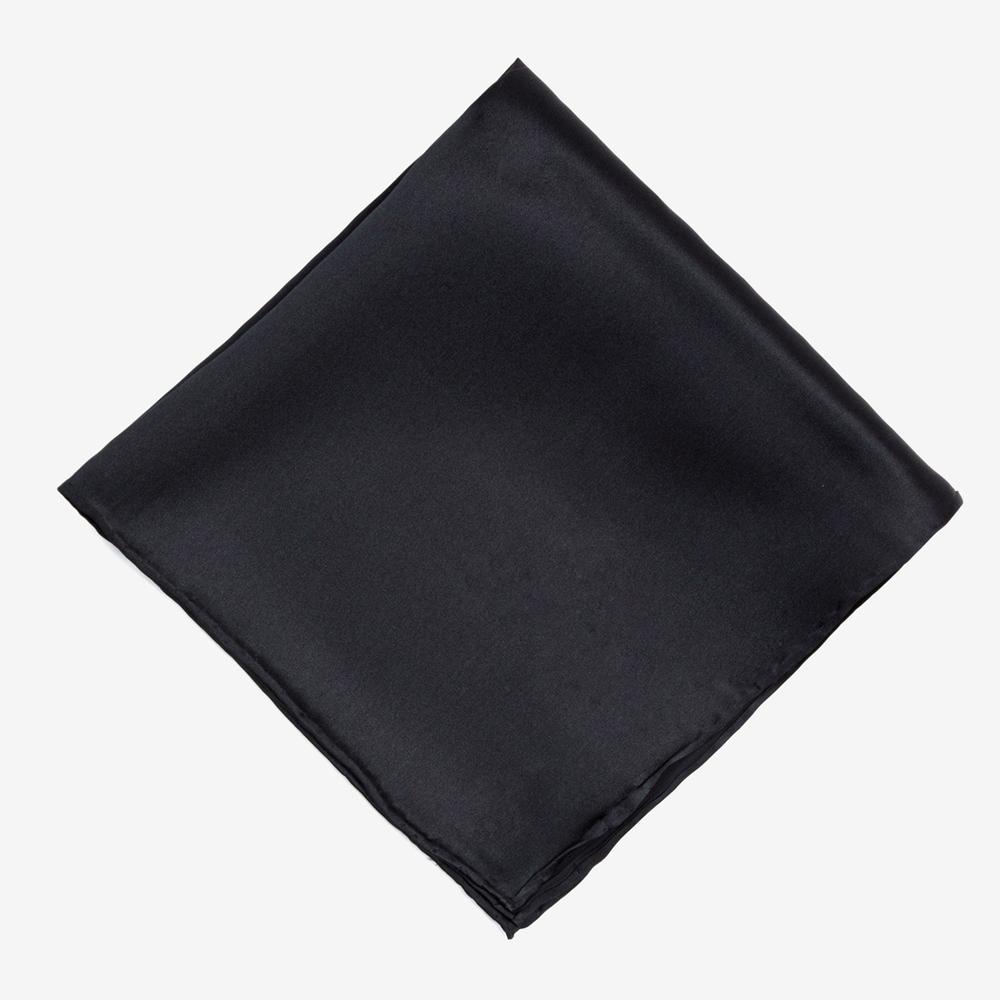treesmile 男纯黑色礼服西装衬衫口袋巾方巾胸带巾宴会绅士手帕
