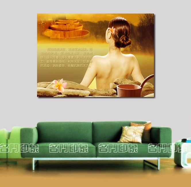 Modern beauty salon background painting health spa decorative painting Yao bath wall painting bath Poster