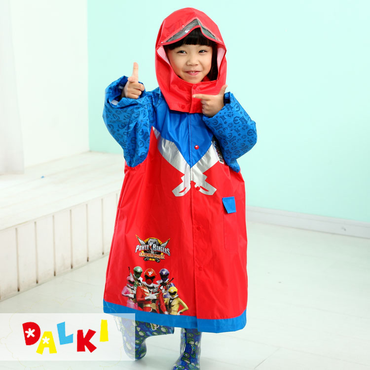 Childrens raincoat boys 6-8 years old cartoon poncho hooded student waterproof coat environmental protection breathable luminous safety rain gear