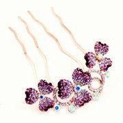 Good Korean rhinestones jewelry petals and amazing hair comb insert hairpin hair accessories hair comb-Chai H062