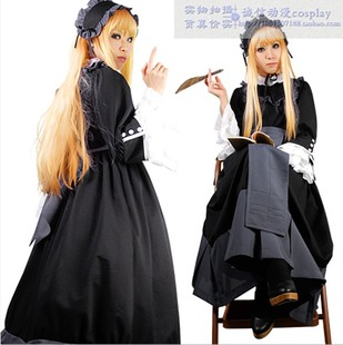 Gothic Lolita cosplay costume can be custom map