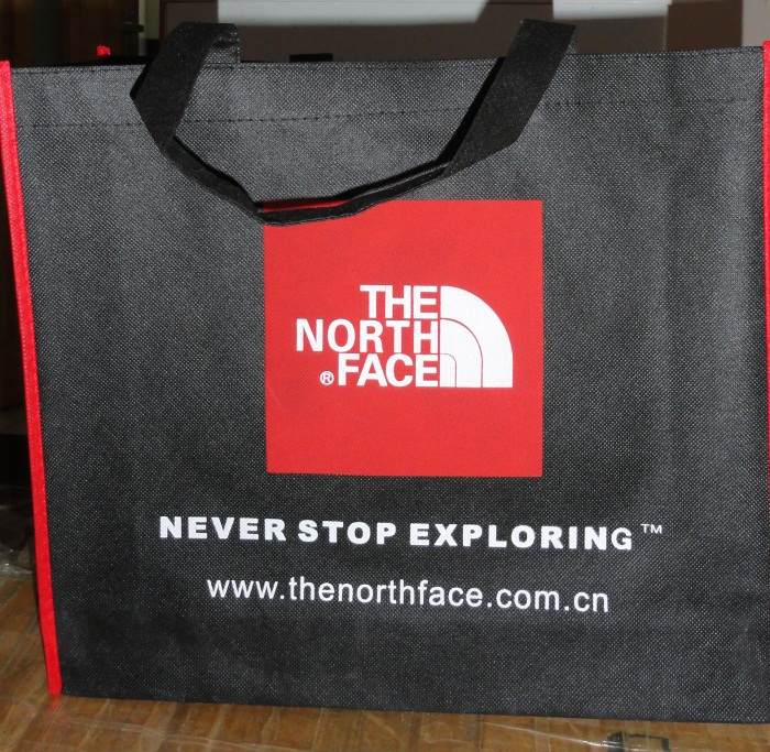 The North Face The North Face The North Face store counter special gift bags woven shopping bags